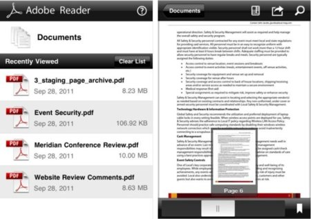 Adobe Reader llega a iOS con características más que interesantes