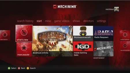 Xbox 360 recibe la aplicación oficial de Machinima