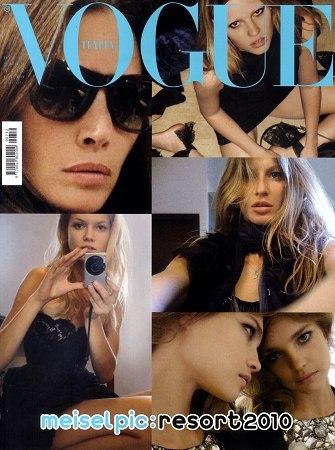 Las fotos de las modelos en twitter portada de Vogue Italia en Navidad