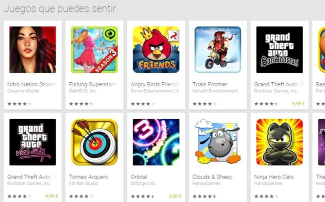 Haptic Games GooglePlay