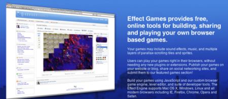 EffectGames, plataforma para crear juegos usando Javascript y HTML5