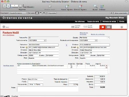 FileMaker Pro 11, base de datos y herramientas de productividad para la pyme
