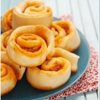 Espirales de brioche rellenas de sobrasada, receta