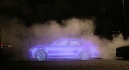 Audi aprovecha su A7 Sportback H-tron para realizar publicidad con hologramas