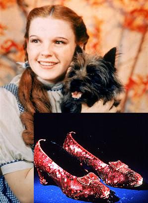 Los diseñadores recrean los zapatos rojos del Mago de Oz