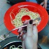 Plato para comer spaghetti
