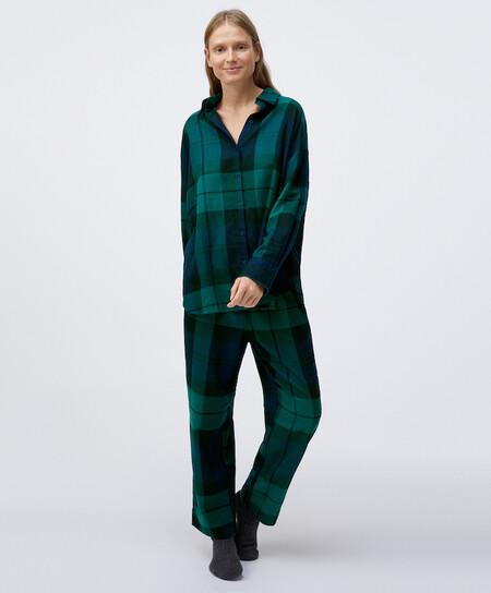 Pijama Tartan Navidad Oysho 00007