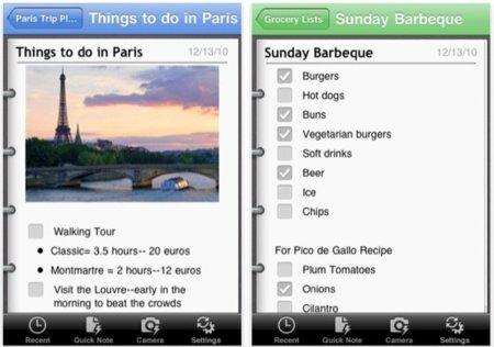 OneNote, Microsoft lanza una aplicación de notas para el iPhone e iPod touch