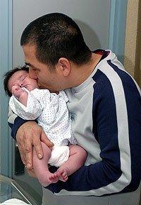 Nació Arancha, una bebé de ¡siete kilos!