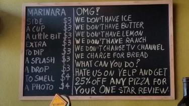 Critica mi restaurante y te hago un 25% de descuento