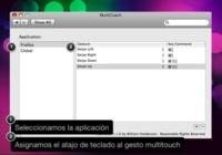 MultiClutch, asigna atajos de teclado a los gestos multitouch.