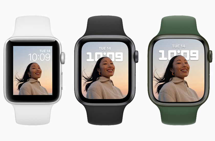 Comparison Apple Watch Series 7 vs Apple Watch Series 6 vs Apple Watch SE: more screen and resistance