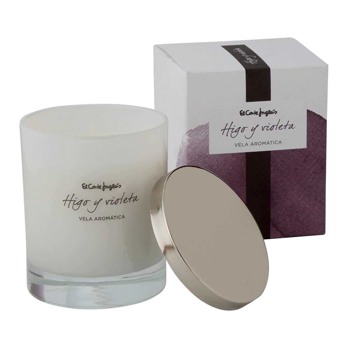 Vela perfumada en vaso Higo y violeta El Corte Inglés