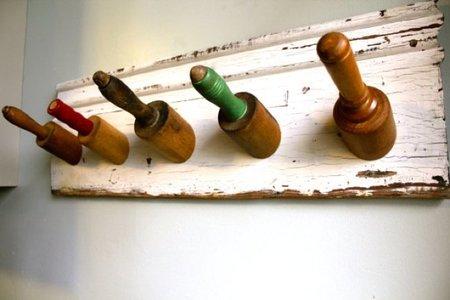 Recicladecoración: colgador hecho con rodillos de cocina