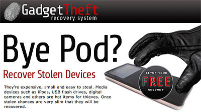 Gadget Theft Recovery System, por si te roban
