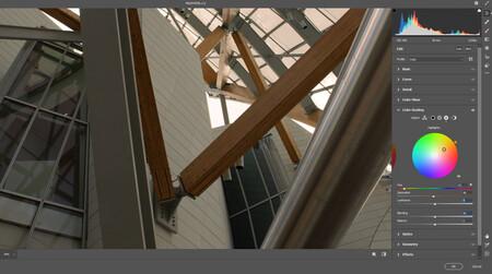 control de combras color grading camera raw