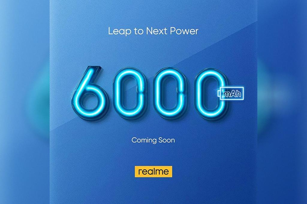 Realme se adicción a las baterías gigantes: lanzará un modelo con 6.000 mAh