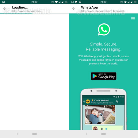 Whatsapp Beta Navegador Interno