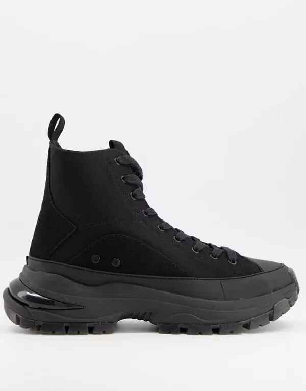 Zapatillas de bota alta y lona de ASOS DESIGN