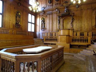 El Teatro Anatómico y el Aula más Magna en el Archiginnasio de Bolonia