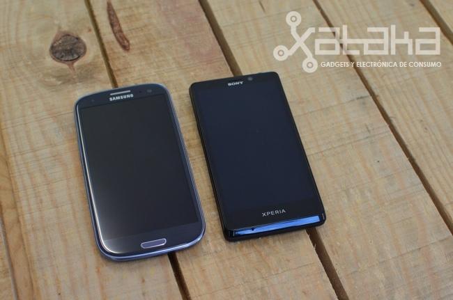 Xperia T con Galaxy S3