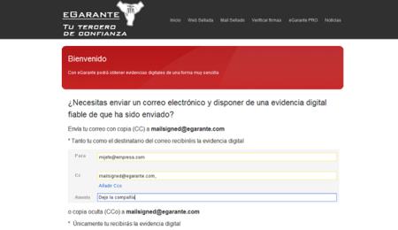 eGarante, certifica digitalmente correos y webs de forma sencilla