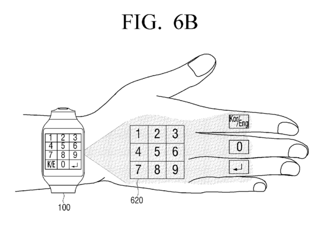 Samsung Patent Numpad Projection Hand 4