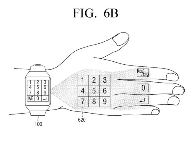 Samsung Patent Numpad Projection Hand 4