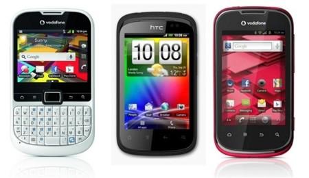 Vodafone lanza una nueva gama de smartphones básicos por tres euros mensuales