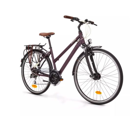 Bicicleta urbana de larga distancia Hoprider 500 con cuadro bajo