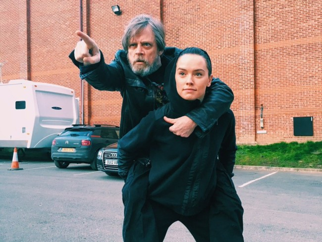 Mark Hamill y Daisy Ridley