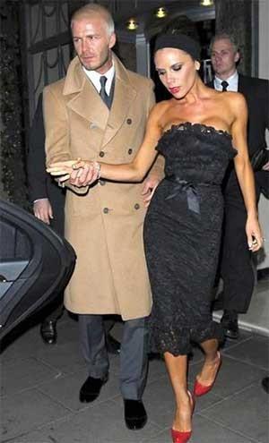 El look de Noche Vieja de los Beckham
