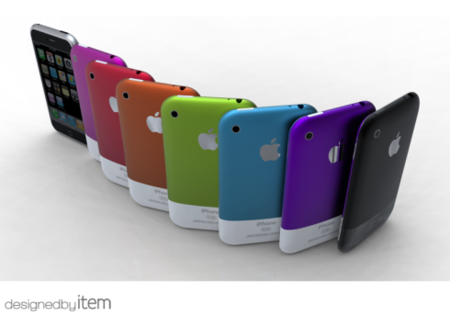 iphone 5 concepto en colores