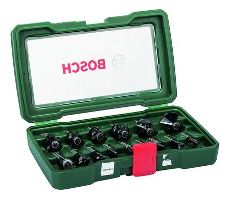 El pack de 15 fresas con inserción de 8 mm Bosch 2607019469 está por 40,90 euros con envío gratis en Amazon