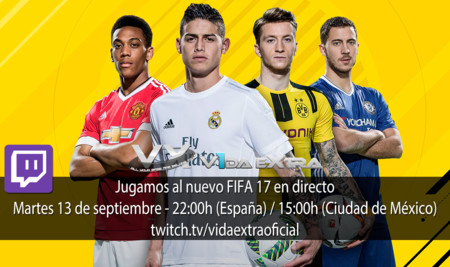 Jugamos en directo a FIFA 17 a las 22:00h (las 15:00h en Ciudad de México) [finalizado]