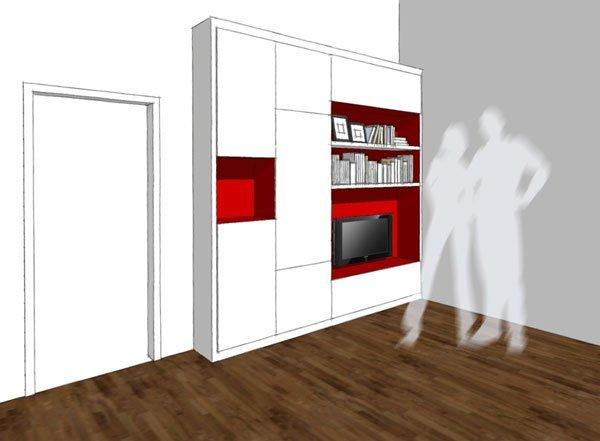 Un mueble muy completo para salones peque os - Muebles de salon para pequenos espacios ...