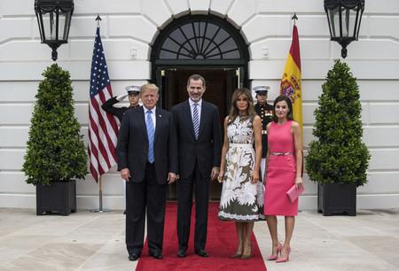 Reyes De Espana Con Los Trump2