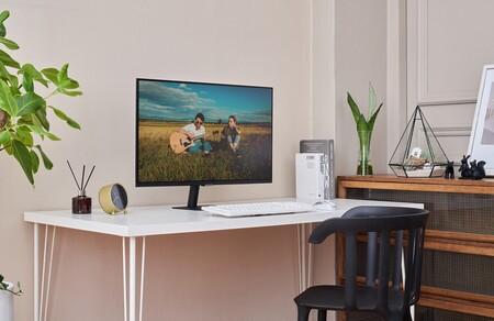 """Monitor y Smart TV a la vez: la pantalla Samsung Smart M5 2021 de 27"""" baja hasta los 199 euros en Amazon, su nuevo mínimo"""