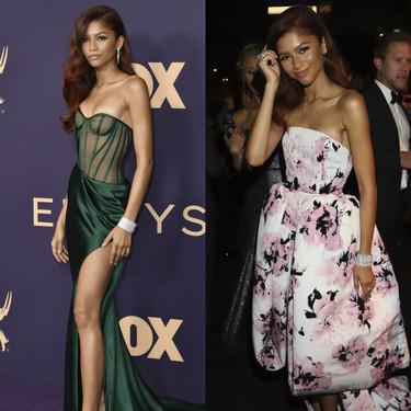 Del vestido súper sexy de Zendaya en los Premios Emmy 2019 al vestido floral y romántico de la fiesta de después: está guapa se ponga lo que se ponga
