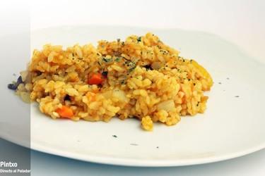 Receta de arroz salteado con curry