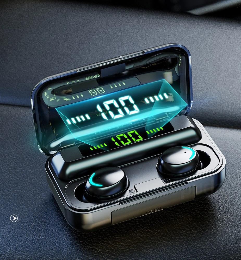 Auriculares Bluetooth V5.0 auriculares inalámbricos con micrófono deportes a prueba de agua