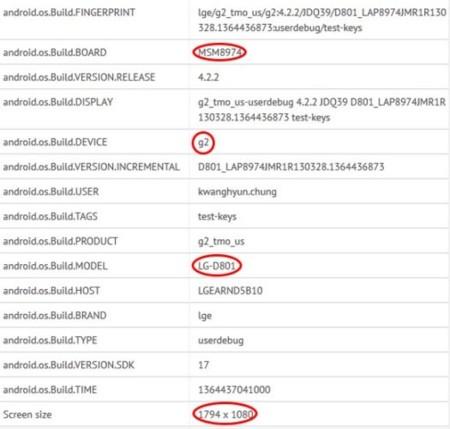 LG Optimus G2 leaked
