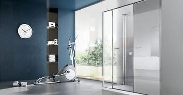 Twin de Vismaravetro, integración perfecta de ducha y lavadora