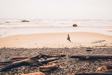 corriendo playa