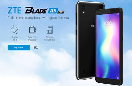 ZTE Blade A5 2019: nuevo gama de entrada con Android Pie Go y 2 GB de RAM