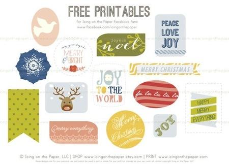 etiquetas imprimibles navidad