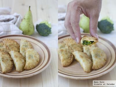 Receta de empanadillas de brócoli, pera y queso azul para el #díadelaempanadilla
