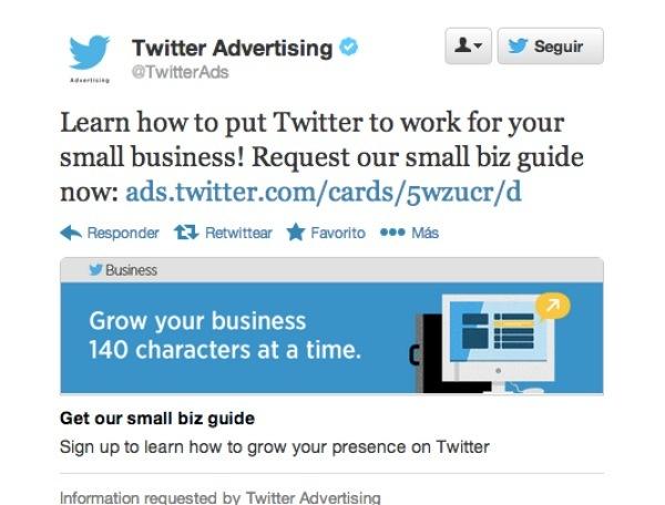 Nuevo tipo de anuncio en Twitter