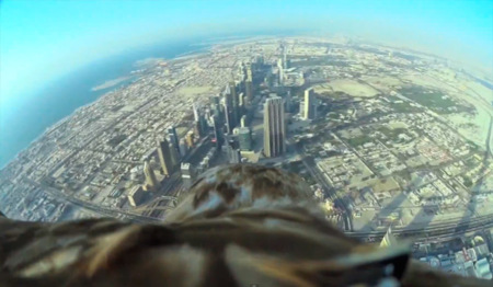 ¿Cómo se ve el edificio más alto del mundo desde el punto de vista de un águila?