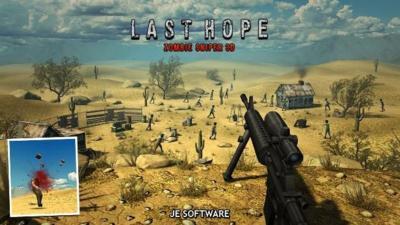 Sube a tu atalaya y acaba con todos los zombis en Last Hope Zombie Sniper 3D